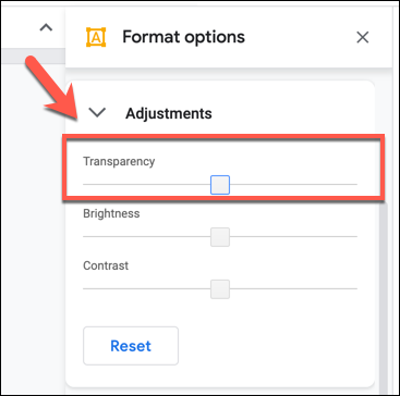 Cambie el nivel de transparencia con el control deslizante en la pestaña Opciones de formato></noscript> Ajustes en los dibujos de Google. «Width =» 367 «height =» 364 «onload =» pagespeed.lazyLoadImages.loadIfVisibleAndMaybeBeacon (esto); «onerror =» this.onerror = null; pagespeed.lazyLoadImages.loadIfVisibleAndMaybeBeacon (esto); «/></p> <p>Cuando haya terminado, agregue un nombre a su dibujo en el cuadro «Dibujos sin título» en la parte superior izquierda.</p> <p><img   alt=