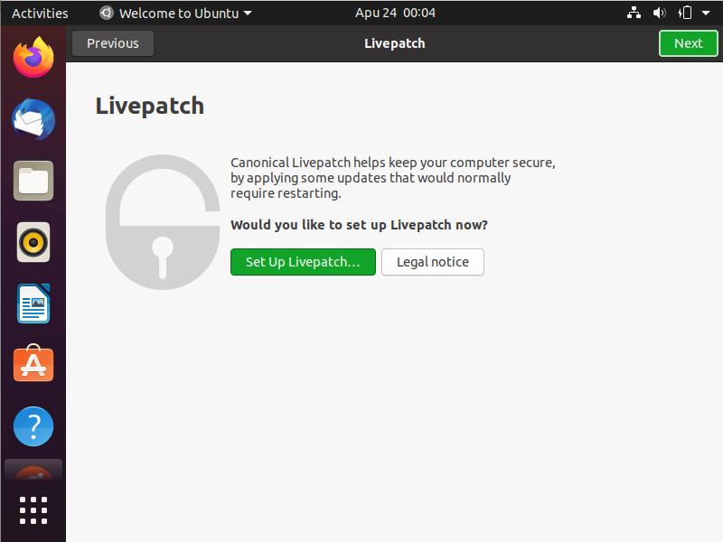 Configuración de Ubuntu LivePatch