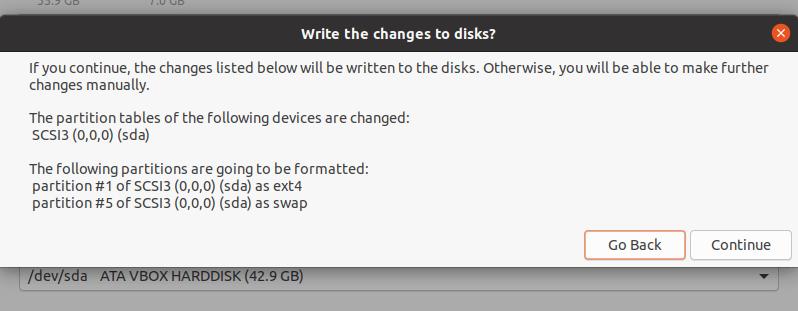 Escribir cambios en el disco duro