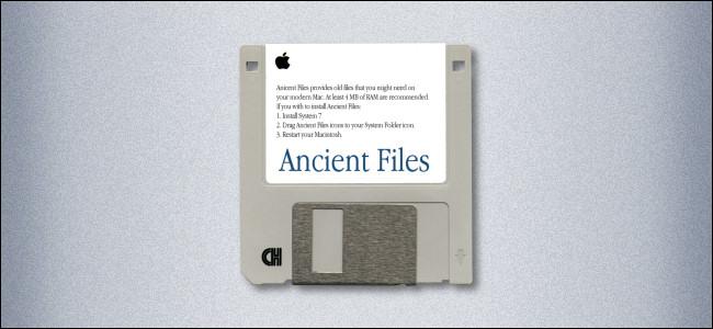 Un disquete Mac de 3,5 pulgadas etiquetado