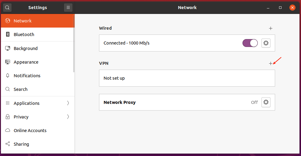 Agregar nueva configuración de VPN