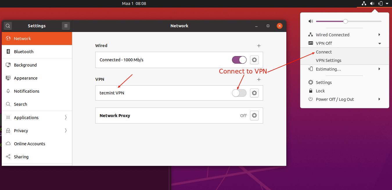 Conectarse a VPN