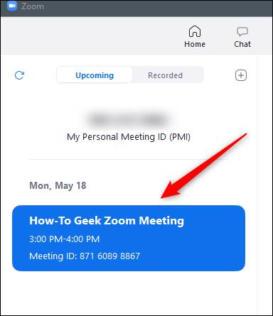 Programar reuniones en la pestaña Reuniones