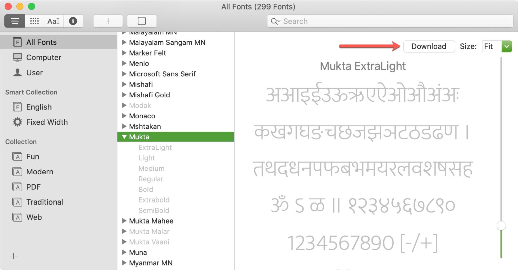 MacOS Catalina-Schriftarten vorinstallierte Dokumente zum Herunterladen von Dokumenten