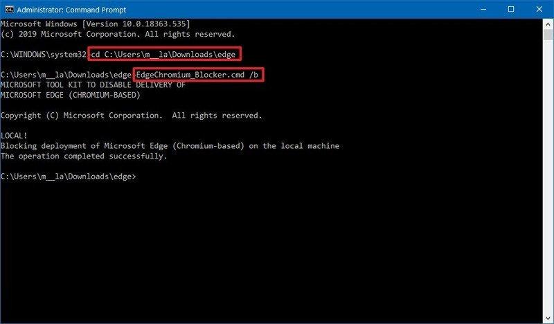 Deshabilitar la instalación automática de Microsoft Edge Chromium