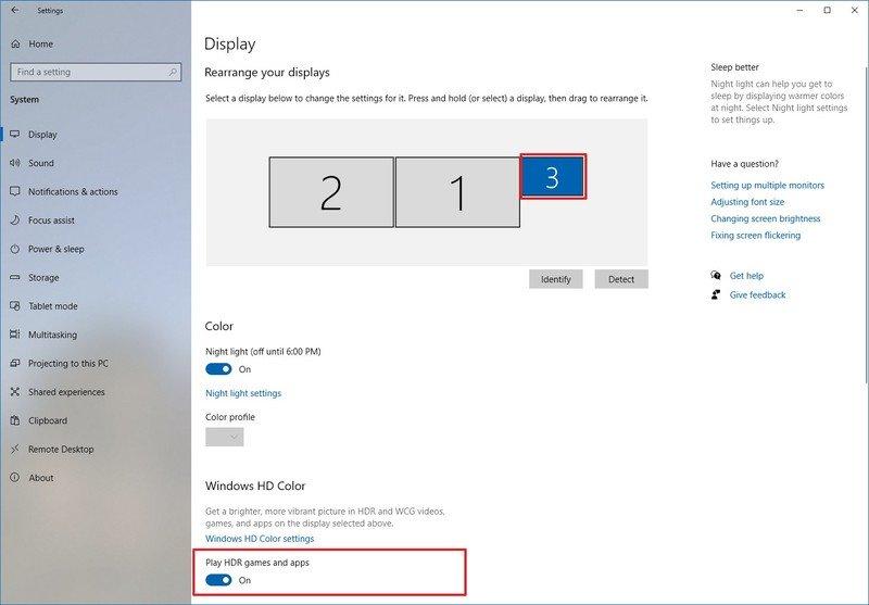 Windows 10 habilita la opción HDR