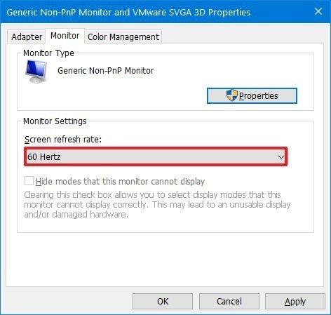 Windows 10 cambia la tasa de actualización