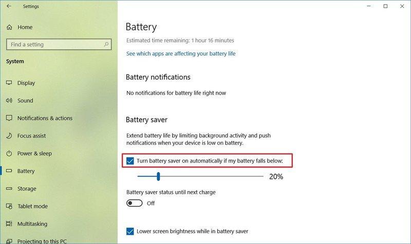 Windows 10 deshabilita el ahorro de batería para reparar HDR