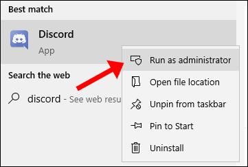 Discord corre como administrador