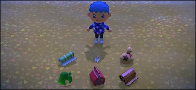 Animal Crossing dejó caer objetos