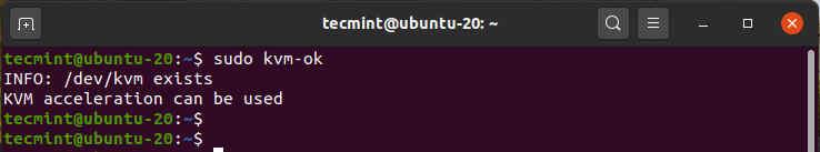 Verifique el soporte de KVM en Ubuntu