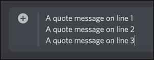 Un bloque de citas de Discord de varias líneas