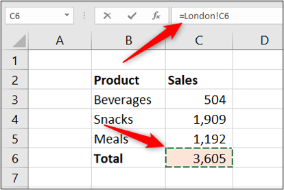 Fórmula de Excel para sincronizar celdas