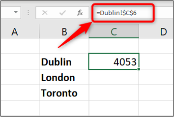 Enlace a los datos de origen en la barra de fórmulas