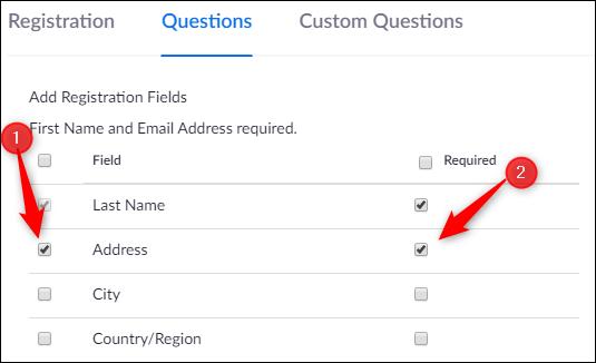 Preguntas sobre registro