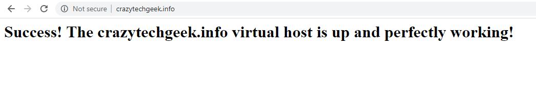 Compruebe Apache Virtual Host en el sitio web