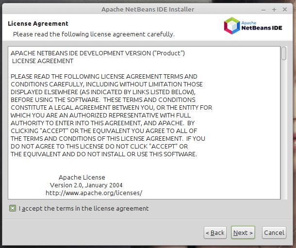 Licencia IDE de NetBeans
