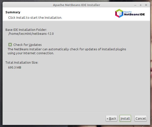 Habilitar actualizaciones de NetBeans IDE