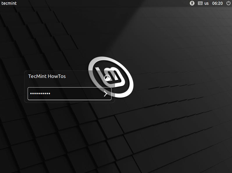 Inicio de sesión en Linux Mint 20