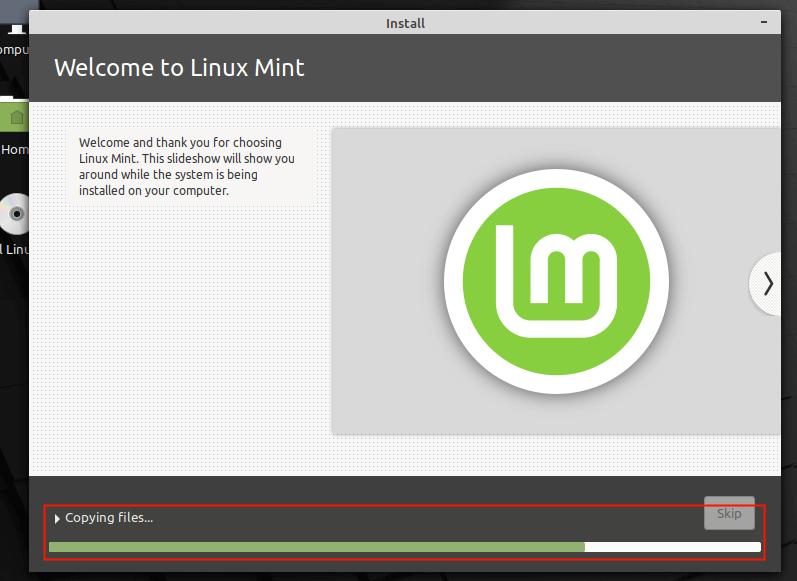 Instale el sistema Linux Mint 20