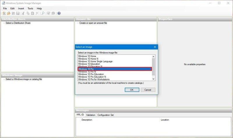 Seleccione la edición de Windows 10