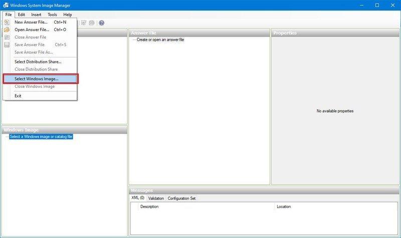 Elegir imagen de Windows