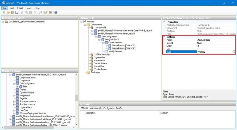 Crear una partición de arranque de Windows 10 para el BIOS