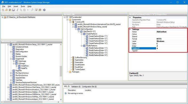 Formato de partición de Windows 10
