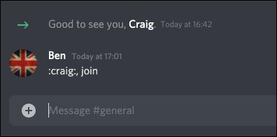 El comando Discord Craig Bot Join