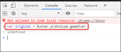 Primer código ingresado para Chrome Hack