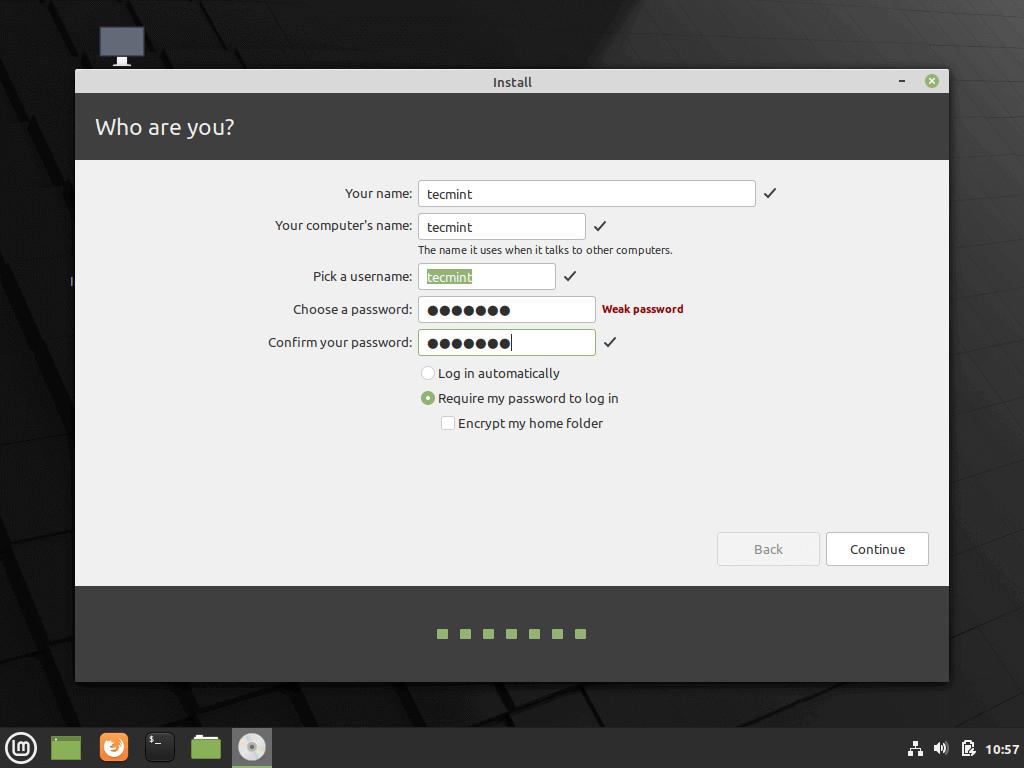 Crea un nuevo usuario