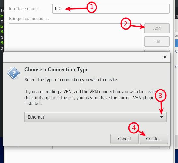 Seleccione Ethernet como tipo de conexión