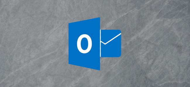 Logotipo de Microsoft Outlook sobre fondo gris