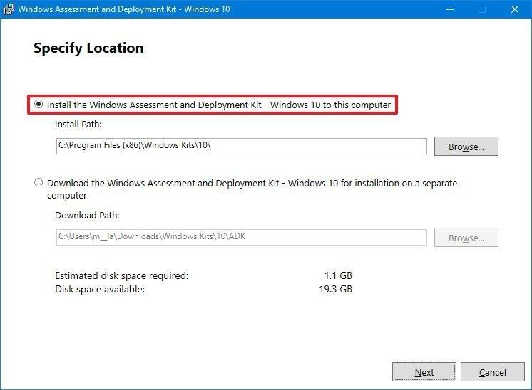 Instale el Kit de evaluación e implementación de Windows