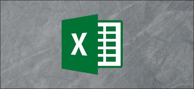 Logotipo de Excel sobre fondo gris