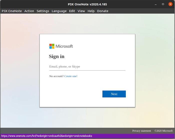 Inicio de sesión de Microsoft