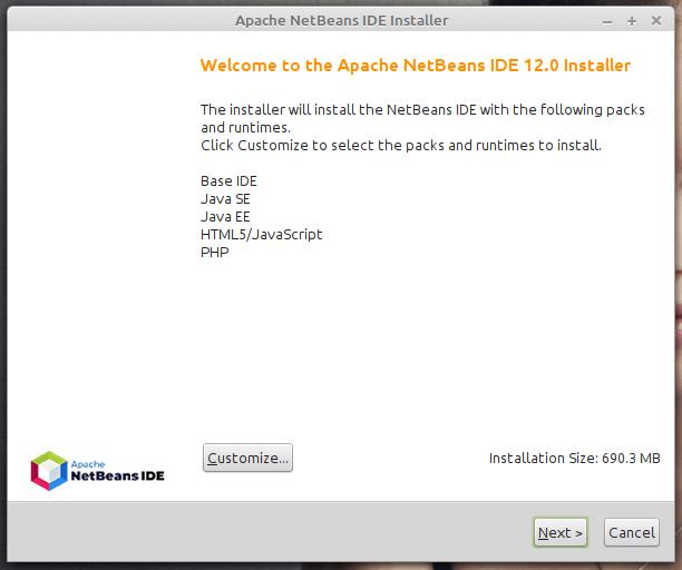 Instalador de Apache NetBeans IDE