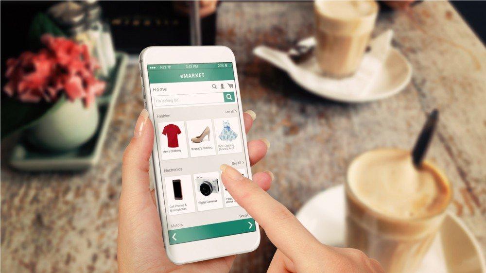 Sitio web de comercio electrónico de compras en línea de teléfonos inteligentes compre cosas usadas en línea mientras vende sus cosas usadas en línea